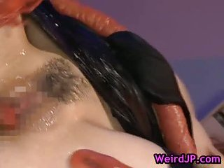 Asami Ogawa gets fucked by huge crab like monster