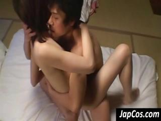 Young Asian teen gets her hairy pussy fucked hard till she screams