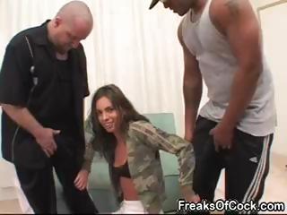Sexy pornstar Naomi Russell loves big black dicks and huge dildos