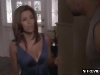 Eva Longoria In Sexy Lingerie Kissing With Her Man