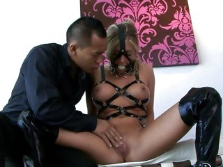 Scorching Samantha Saint has her piss flaps toyed with