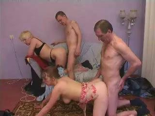 Mature And Young Couple Group Sex