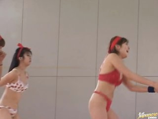 Amateur Asians Playing Naked Basketball
