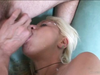 Vicious Blonde MILF Gets Fucked and Then Swallows Hot Jizz