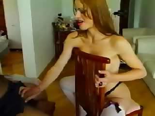 Amateur TS In Stockings Sucking