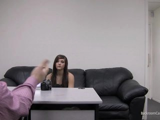 Kaylie on Backroom Casting Couch rubbing her pussy