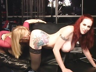 Scorching Mz Berlin gets whipped by Nina Hartley