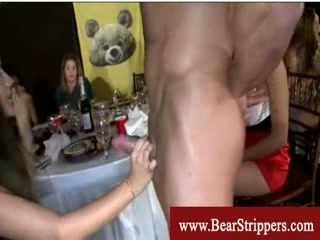 Cfnm nasty and greedy brunettes blowjob