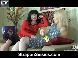 Ninette&Silvester strapon pussyclothed sex video