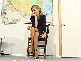 Female teacher in sheer-to-waist hose getting recent fucking experience on livecam