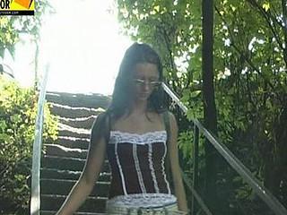 Valeria in the bushes
