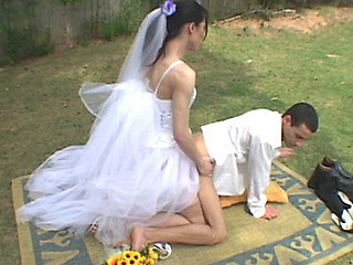 Wedding ceremony with shemale bride results in sore a-hole of her nasty fiance