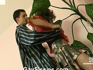 Horny gay sissy caught sleepy guy itching for mind-blowing gazoo-screwing