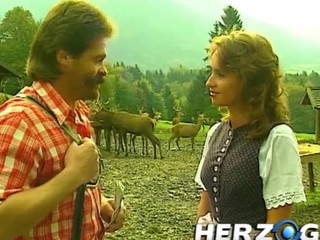 Horny Bavarian doctor from the 80s fucking cuties