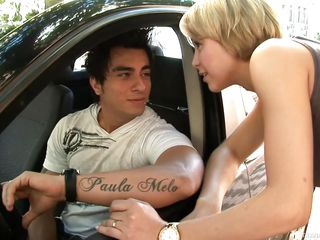 `Leo Stanley is horny and needs his dick sucked. He picks up tranny slut Paola Melo and takes her to his place for a good fucking. He licks her feet and gets his cocked sucked through his boxers; then he fucks her.`