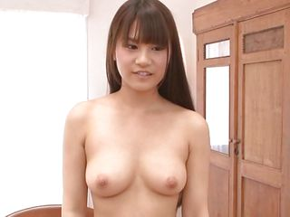 Ai definitely knows how to satisfy her man and so she wastes no time after entering the room and starts stripping. When her small boobs with hard nipples are visible her man starts kissing her and sucking her hard nipple. Then she is making her legs wide and spreading her pussy with her hands.