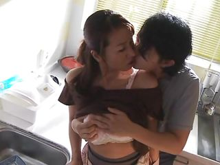 While doing her housework, her man approaches her and he gives his woman a well-deserved break from all those chores. Rika is a mature Asian and still has a sexy body and a booty that makes cocks hard! Her big boobs are getting squeezed and licked by him and then he rubs her cunt nice and slow.