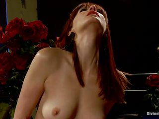 Her long red hair, sexy legs and gorgeous face makes this guy wanna obey to her devilish wishes so he licks her cunt like a good obedient boy and then bends over with submission to take it deep in his ass. She drills his hole with her strap on dildo and makes him moan, what else this mistress has prepared for him?