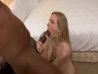 Super skinny girl takes the super big black cock