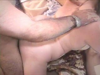 Cute Blonde MILF slut spanked fingered & fucked at orgy