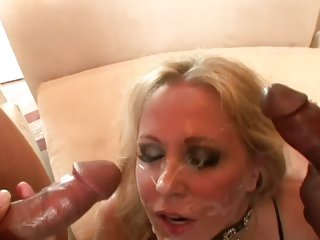 Dark dick lover Julia Ann swallows a massive dick