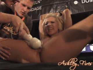 Ahley Fires giving herself a huge orgasm with her hands and fingers