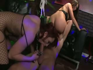 Pornstars at club anally fingered and give bjs