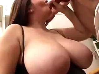 Busty BBW rides cock on the floor