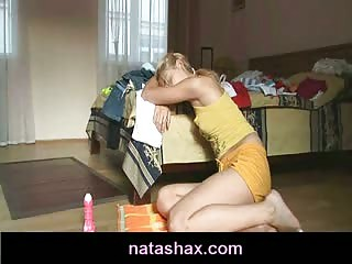 Lesbian teen sex with Natasha Shy and her hot girlfriend
