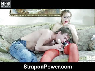 Irene&Silvester strapon abuse video