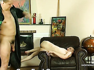 Two close male allies getting still closer with guy-on-stud oral and anal