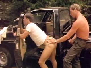 Camping outdoors, this stud wakes up feeling horny and took advantage of his buddy by slamming his meat in his mouth. A couple of rangers spotted their naughty sexcapade and got hot, so instead of arresting them, they got down to themselves and started su