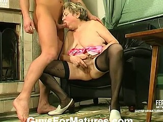 Filthy mommy making manacled guy action as her sex toy and getting to fucking