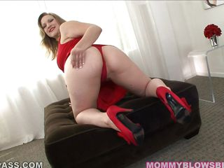 Sultry blonde Vicky Vixen, red dress and heels, those eyes, those lips, those tits.... Ahhhh! I'm in lust! Playfully taking it all off before coming over to use those luscious full lips and those big tits to drive that cock wild!