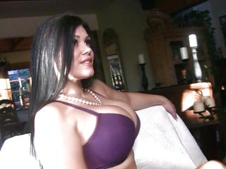 Everyone loves to watch busty MILFs doing hot stripteasing! And here we have one hot brunette mom who is taking off her clothes to amaze us with her wonderful big boobs. This sexy lady keeps posing and smiling as she is showing off her beautiful body. And then she takes out her tits and starts posing!