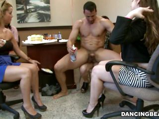 They are sitting around on the chairs all around him as he cajoles his huge dick into an erection as They start taking turns to keep the cock stiff and the person attached to it in the constant condition of sexual tension. Therefore when she is alone with guy with monster erection she takes is all