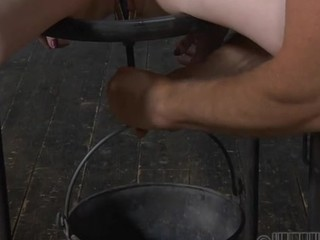 Worthless whore is made to pleasure her horny fur pie