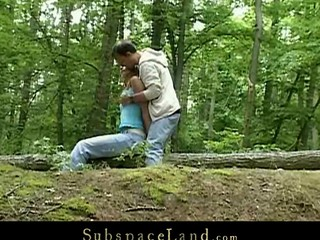 Skinny legal duration teenager Claudie is Slavemaster's sex-toy this day.  A valuable walk outdoor in the woods must be combined with a worthy hard fuck upon his kinky mind. Bound by the trees that babe will fulfill his odd dream
