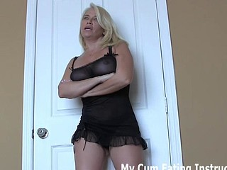 You have to eat your cum for spying on me