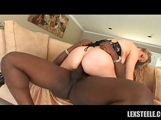 Beautiful blonde gets rammed without mercy by evil Lexington Steele