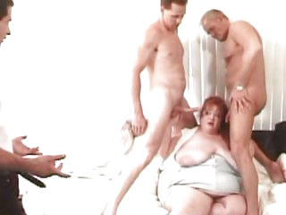Fat redhead gets cock load
