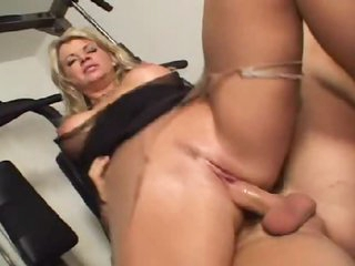 Vicky Vette the hot milf takes dick in gym