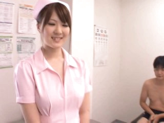 DD Cupped Momoka Nishina Loves Sucking and Tit Fucking her Patients' Cocks