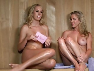 Brett Rossi naked interview in a sauna with Ainsley Addison