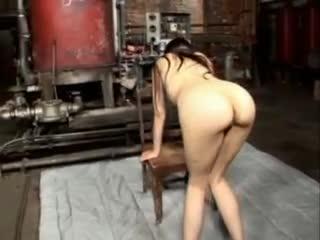 Ball gagged Sasha Grey gets flogged