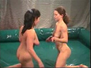 Naked girls wrestling