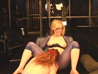 Nica Noelle enjoys munching Nina Hartley's moist pussy