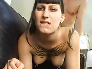Sexy punk rocker Bellarotica sucks and fucks pov