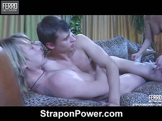 Rosa& Silvester&Hubert strapon domination action