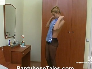 French maid in control top hose can